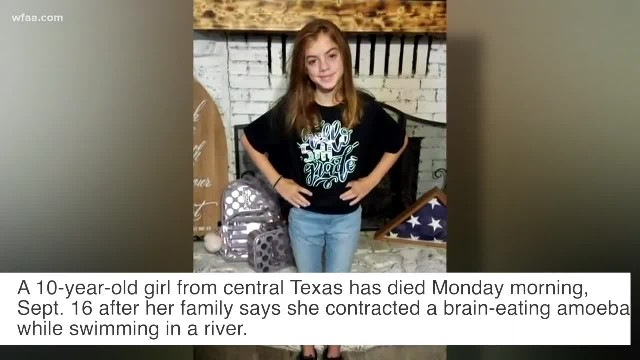 10-year-old Texas girl dies after contracting brain-eating amoeba infection while swimming