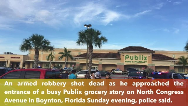 A robbery suspect dead in officer-involved shooting in Boynton, Florida