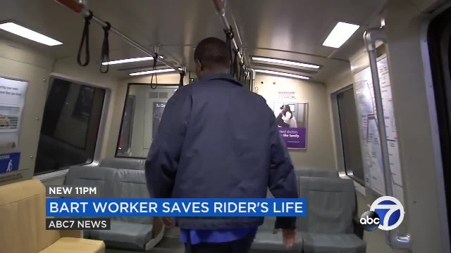 Bay Area public transit worker saves BART rider's life