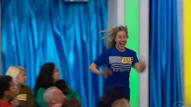 The price is right - Contestant in the bathroom