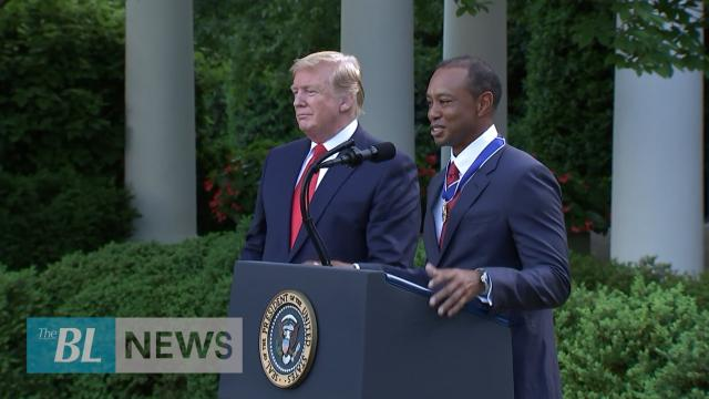Tiger Woods awarded highest civilian award