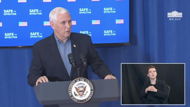 Safe and effective vaccine confidence event with Vice President Mike Pence