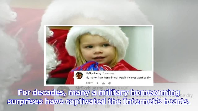 3-Yr-Old's Reaction to Santa Bringing Daddy Home Leaves Internet Sobbing Uncontrollably