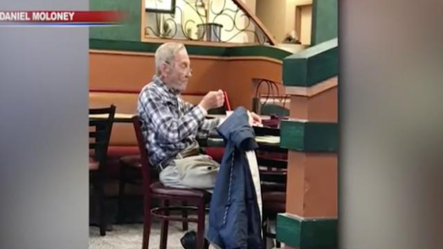 Arby's staff sees 97-year-old veteran at same table every day, give him free food for life