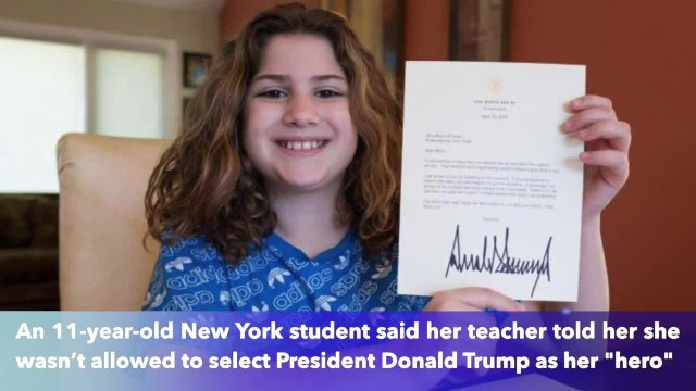 11-year-old New York student banned from choosing Trump as 'Hero' for school project
