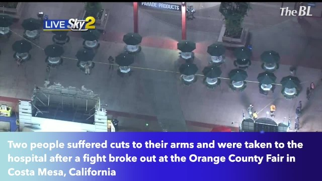2 people suffer cuts after fight breaks out at Orange County Fair in Costa Mesa, California