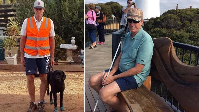Blind man, 63, and his guide dog are killed after walking into a busy road