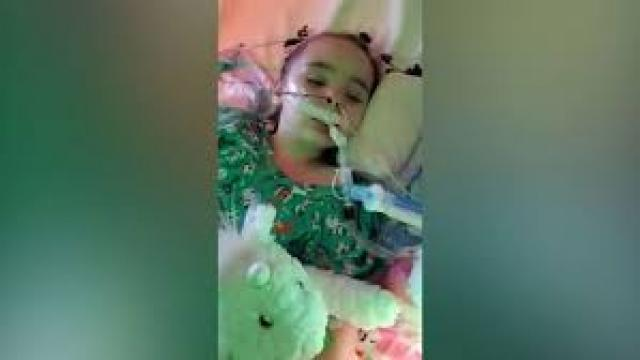 4-year-old fighting for life, suffered brain damage after getting the flu