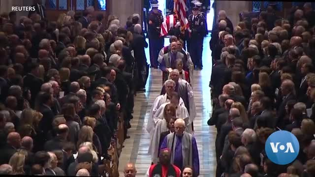 US Bids Farewell to President George HW Bush at State Funeral