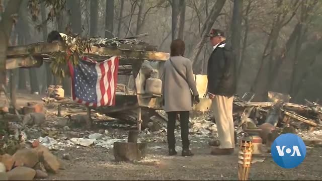 Trump Tours Site of Devastating California Fire