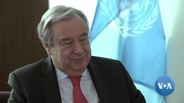 VOA Interview with UN Secretary-General Antonio Guterres
