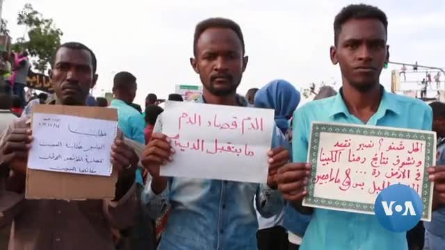 Protesters in Sudan Demand Civilian Government