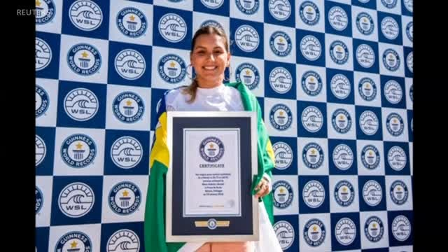 Brazilian Woman Sets Record Surfing Biggest Wave