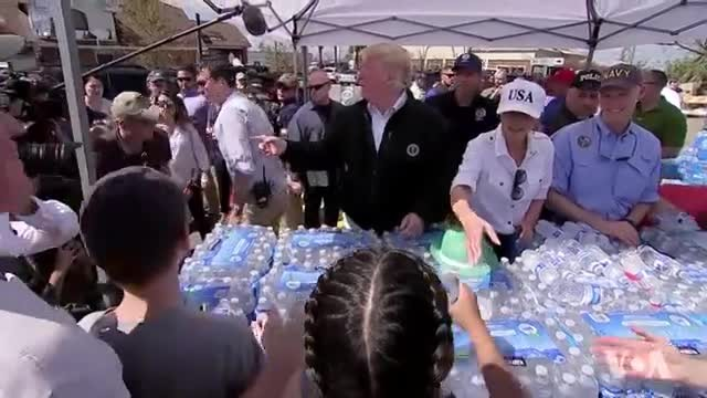 Trump Praises Response to Hurricane Michael