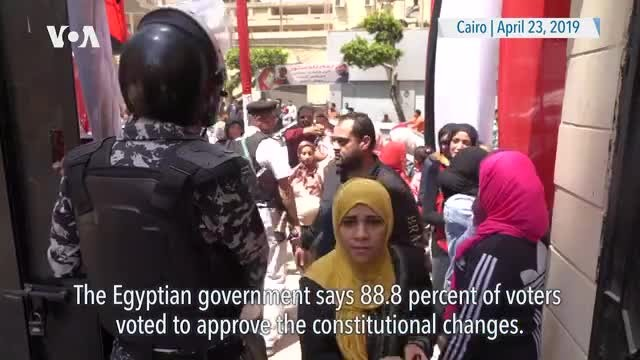 Referendum on Extending Sissi's Rule in Egypt Passes