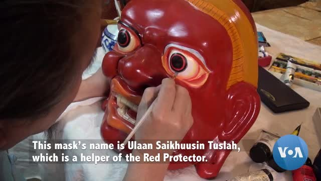 Artist Spreads Mongolian Culture Through Masks