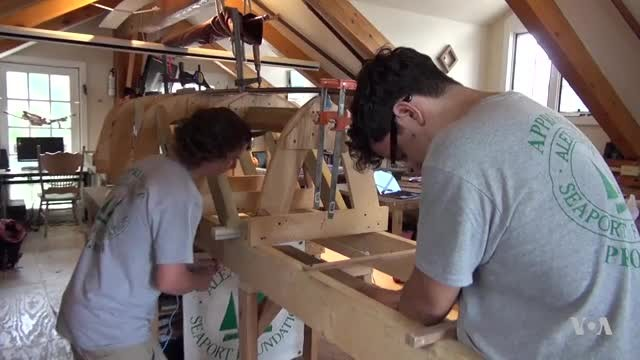 At-Risk Young Adults Learn Art of Making Wooden Boats