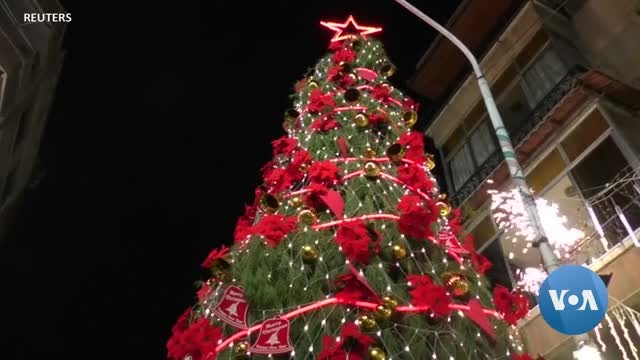 Syrians in Capital Prepare for Christmas Without Mortar Fire